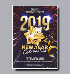 2019 party flyer poster happy new year vector