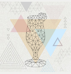 Abstract polygonal tirangle cocktail daiquiri vector