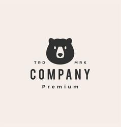 bear head hipster vintage logo icon vector image