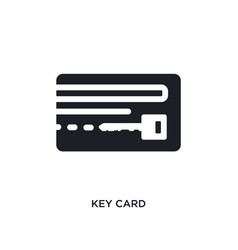 black key card isolated icon simple element from vector image