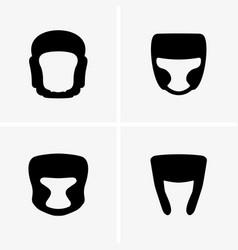 boxing helmets vector image