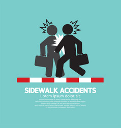 Businessmen get accidents on sidewalk symbol vector