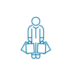 buying clothes linear icon concept buying clothes vector image