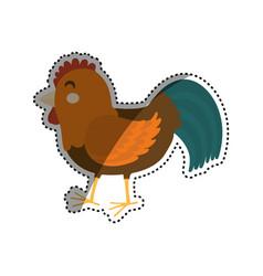 Chicken farm animal vector