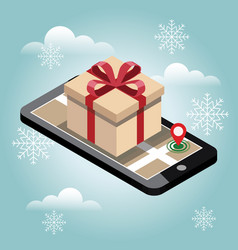 christmas and new year shopping searching for vector image