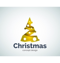 Christmas tree logo template vector