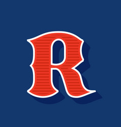 Classic style r letter sport logo vector