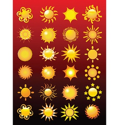 Collection of suns vector