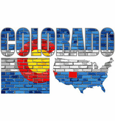 colorado on a brick wall vector image