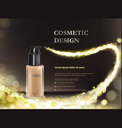Colorstay make-up in glass bottle on a black vector