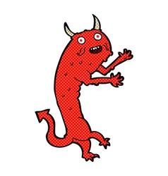 Comic cartoon devil vector