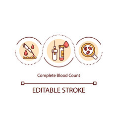 Complete blood count concept icon vector