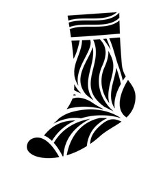 cotton sock icon simple style vector image