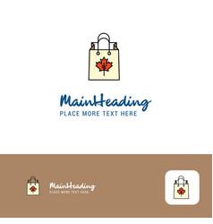 creative shopping bag logo design flat color logo vector image