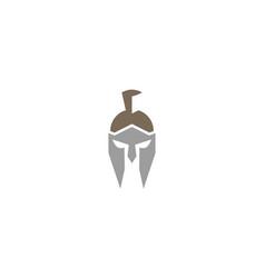 creative spartan helmet logo design symbol vector image