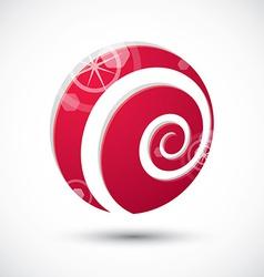 Curl symbol abstract icon 3d symbol vector