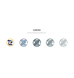 Curves icon in different style two colored and vector