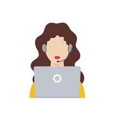 customer service icon technical support flat icon vector image