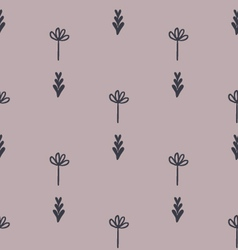 Cute floral geometric seamless pattern vector