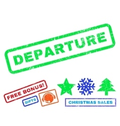 Departure Rubber Stamp vector