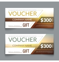 Discount Voucher market Design Template with vector image