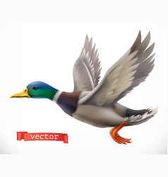 Duck hunting 3d icon vector