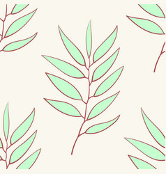 Eucalyptus seamless pattern blue agonis thyme vector