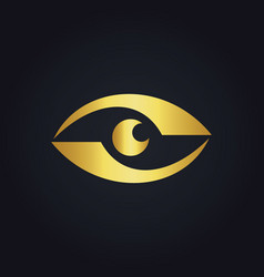 Eye gold logo vector