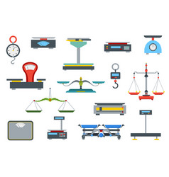 flat store weigher collection electronic and vector image