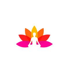 flower wellness logo icon design vector image