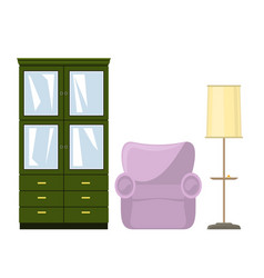 furniture for the living room vector image