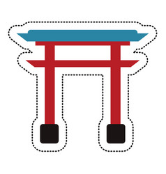 Gate structure japanese image vector