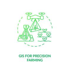 Gis for precision farming concept icon vector