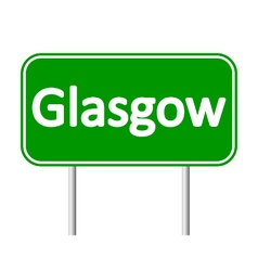 Glasgow road sign vector