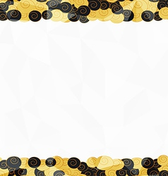 gold seamless border pattern vector image