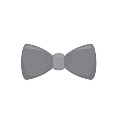 grey bow tie icon flat style vector image