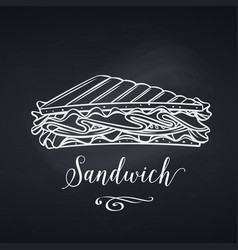 hand drawn sandwich vector image