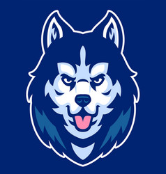 Husky dog mascot head vector