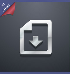 Import download file icon symbol 3D style Trendy vector