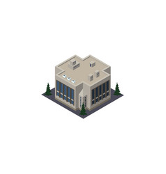 isolated office isometric company element vector image