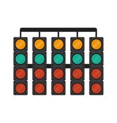 Isolated semaphore lights design vector