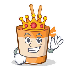 King cup noodles character cartoon vector