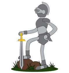 Knight cartoon vector