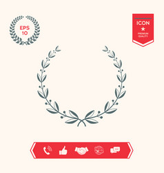 laurel wreath symbol vector image