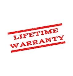 Lifetime Warranty Watermark Stamp vector