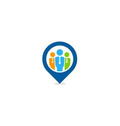 locate job logo icon design vector image