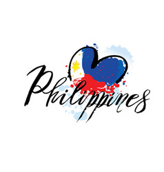 logo for philippines country fridge magnet vector image