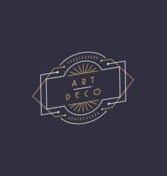 modern art deco gold black frame background vector image
