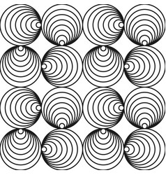 monochrome seamless circle pattern - swirl vector image