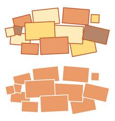 moodboard template photo frames minimalist vector image